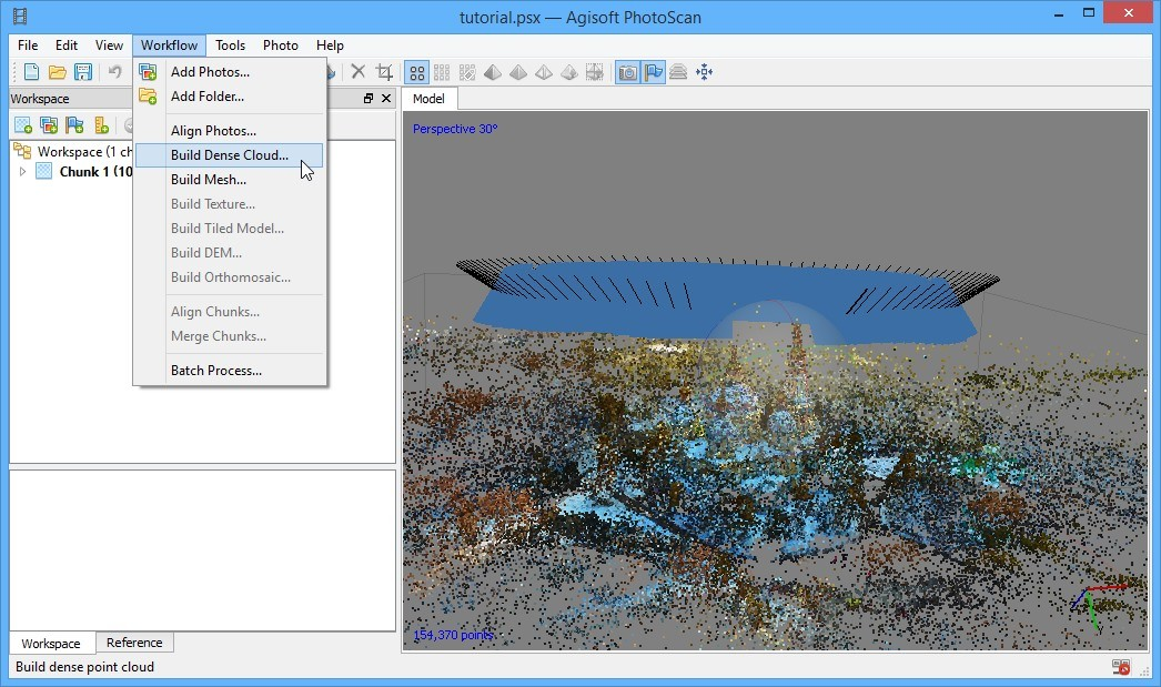 Converting video to georeferenced 3D model - step 3
