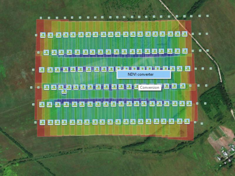NDVI calculation with the use of Agisoft PhotoScan | GeoScan