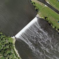 Aerial photography of hydroelectric power station
