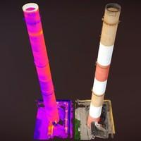 Thermal imaging of factory chimneys